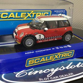 Scalextric C2773 Mini Cooper Dawson 1/32 Slot Car. Lightly Used.