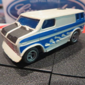 AFX Ford Econoline Custom Van HO Slot Car.