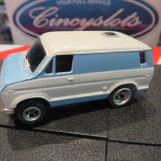 AFX Ford Econoline Van Baby Blue HO Slot Car. Looks New.