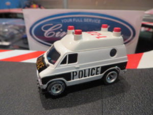 AFX Dodge Police Van HO Slot Car.  NEW.