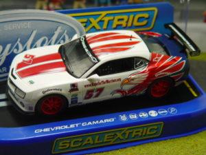 Scalextric C3289 Chevrolet Camaro Stevenson Motorsport 1/32 Slot Car.