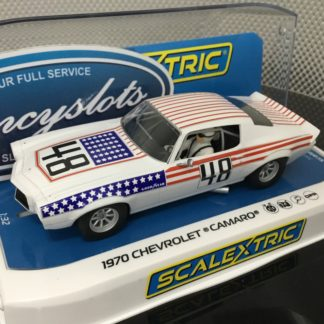 Scalextric C4043 1970 Chevrolet Camaro Stars & Stripes #48 1/32 Slot Car.