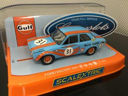 Scalextric C4013 Ford Escort Gulf Edition 1/32 Slot Car