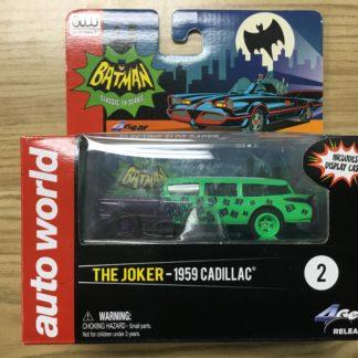 Auto World Batman The Joker 1959 Cadillac 4Gear HO Scale SC295.