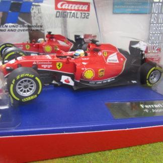 Carrera D132 30734 Ferrari F14 T Alonso #14 1/32 Slot Car.