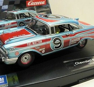 Carrera Evolution 27526 1957 Chevrolet Bel Air Oval Racer 1/32 Slot Car.