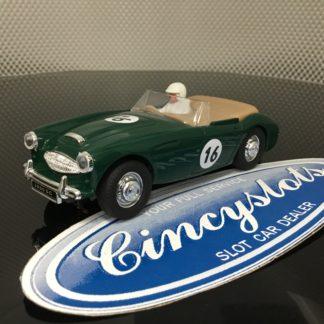 PinkKar CV049 Austin Healey Green 1/32 Slot car.