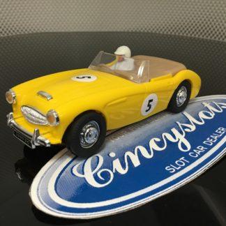 PinkKar CV048 Austin Healey Yellow 1/32 Slot car.