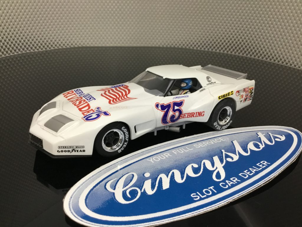 Monogram Revell 4857 Greenwood Corvette #75 1/32 Slot Car. NEW No Box.