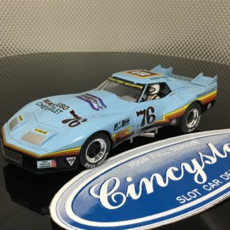 Monogram Revell 4864 Mancuso Greenwood Corvette #76 1/32 Slot Car. NEW No Box.
