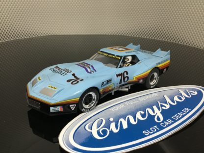 Monogram Revell 4864 Mancuso Greenwood Corvette #76 1/32 Slot Car. NEW No Box.