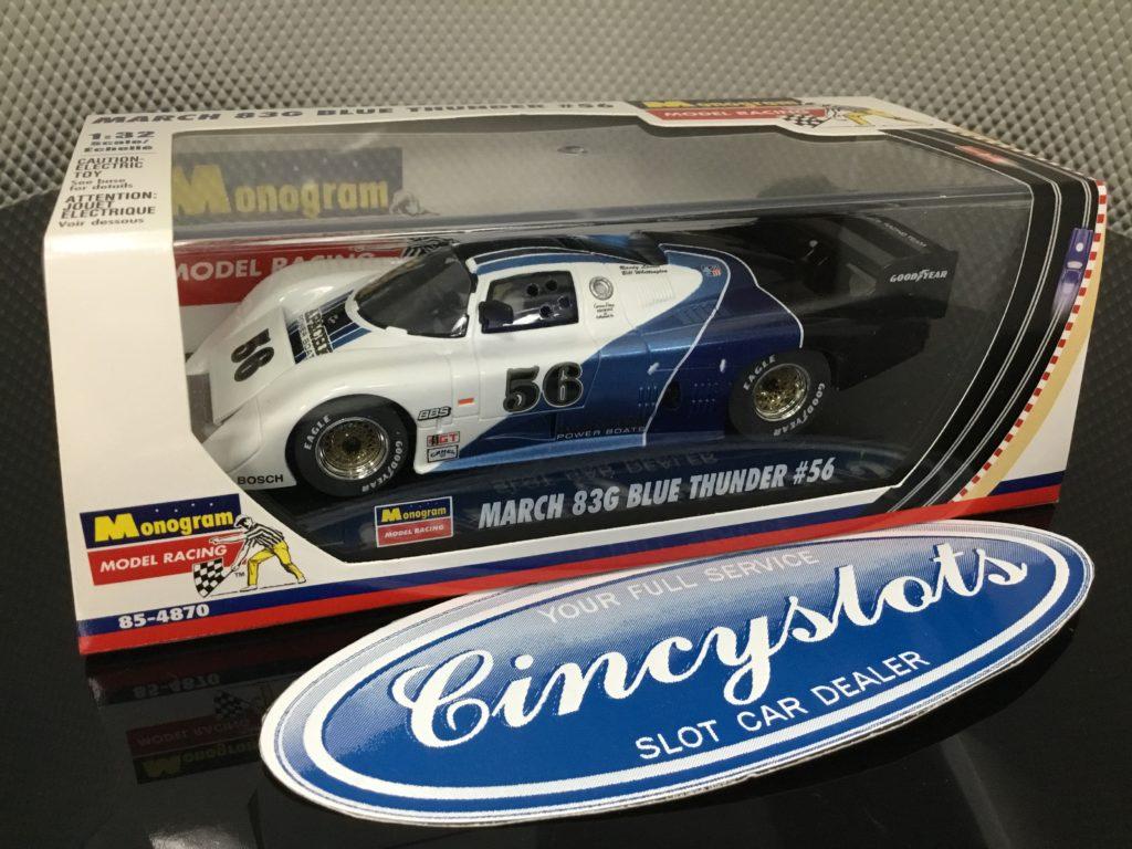 Monogram Revell 85-4870 March 83G Blue Thunder 1/32 Slot Car.