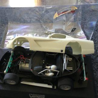 Scalextric C2634 Dodge Viper White Kit 1/32 Slot Car. Disassembled.