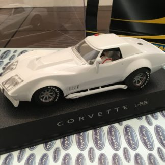 Scalextric C2525 Chevrolet Corvette Plain White 1/32 Slot Car.