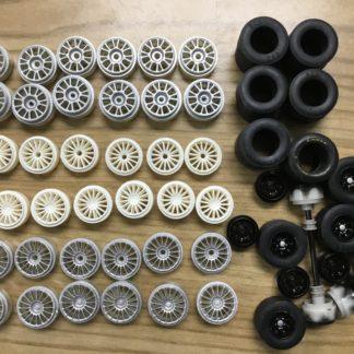 SCX Parts Lot Wheel Tires ETC... 1/32 Slot Car.