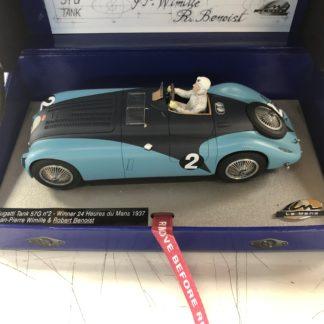 Le Mans Miniatures 132010EVO/2 Bugatti Tank #2 1937 Winner Jean-Pierre Wimille.