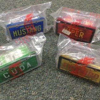 Hot Wheels License Plate Series Unopened Cases Viper, Cuda, Firebird, Mustang. Box 3