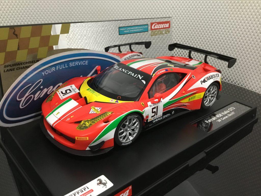Carrera D124 23879 Ferrari 458 Italia GT3 #51 1/24 Scale.