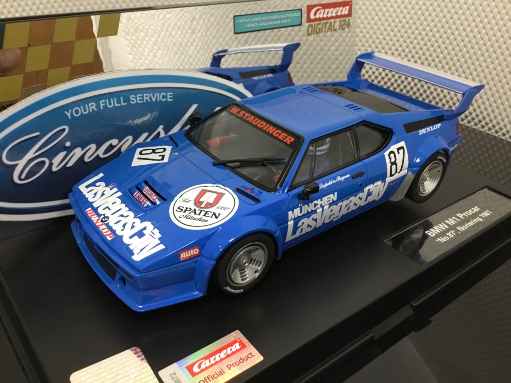 Carrera D124 23871 BMW M1 Procar #87 1/24 Scale.