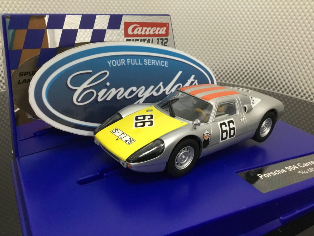 Carrera D132 30902 Porsche 904 Carrera GTS #66 1/32 Scale Slot Car.