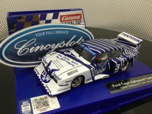 Carrera D132 30887 Ford Capri Zakspeed Turbo RS D&W #3 1/32 Scale Slot Car.