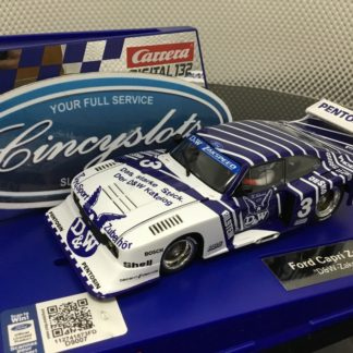 Carrera D132 30887 Ford Capri Zakspeed Turbo RS D&W #3 1/32 Scale Slot Car.