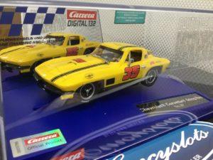 Carrera 30906 D132 Chevrolet Corvette Sting Ray #35 1/32 Slot Car.