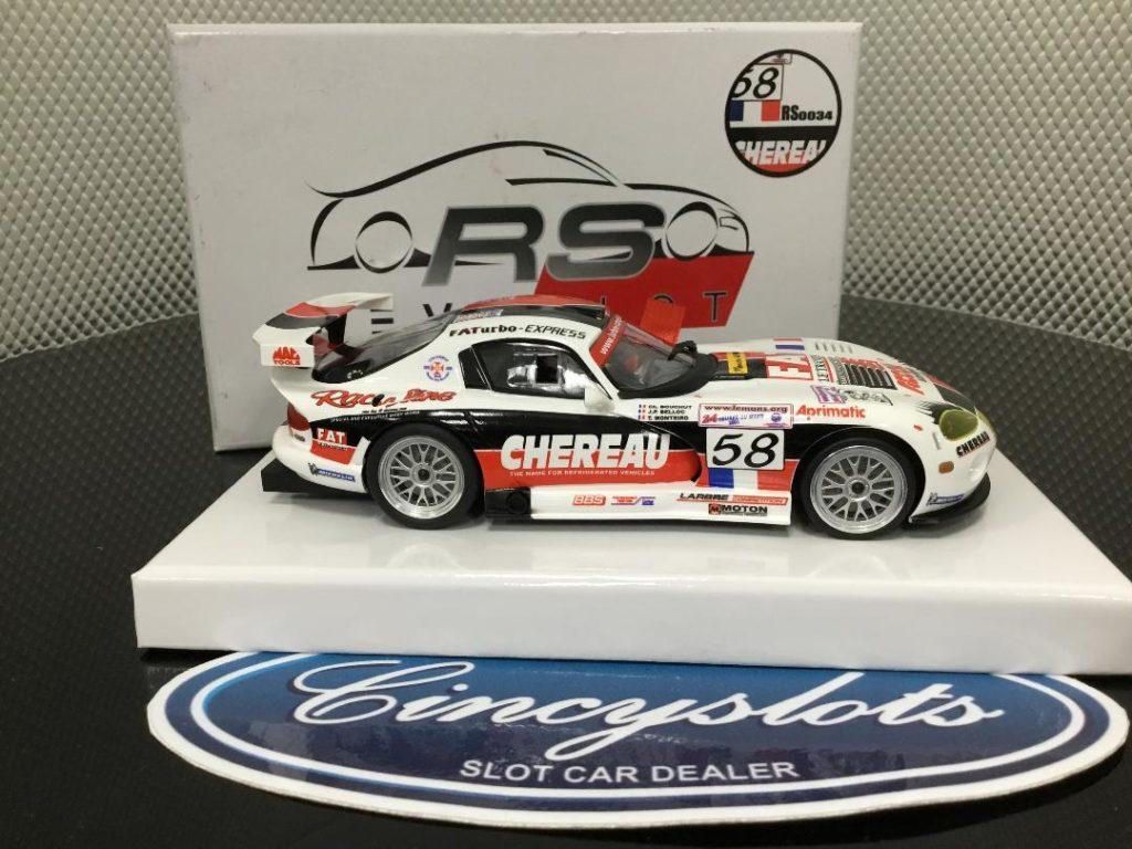 RevoSlot RS0034 Dodge Viper #58 Chereau 1/32 Slot Car.