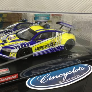 Carrera D124 23880 Audi R8 LMS Racing Police Slot Car.