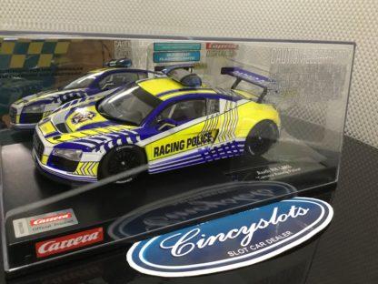 Carrera D124 23880 Audi R8 LMS Racing Police Slot Car.