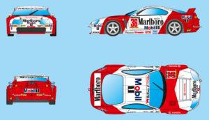 RevoSlot RS0036 Toyota Supra Marlboro 1/32 Slot Car.