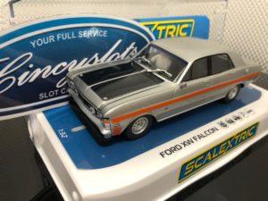 Scalextric C4037 Ford XW Falcon Silver Fox.  1/32 Slot Car.