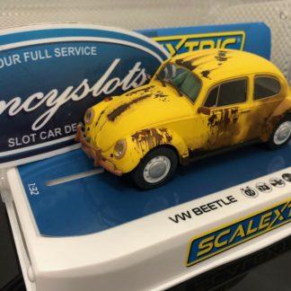 Scalextric C4045 VW Volkswagen Yellow Rusty. 1/32 Slot Car.