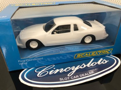 Scalextric C4077 Ford Thunderbird White Edition. 1/32 Slot Car.