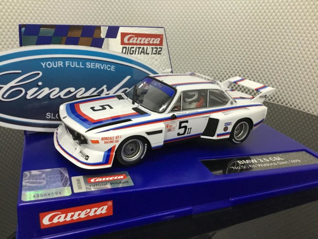 Carrera D132 30896 BMW 3.5 CSL #5 Watkins Glen 1979 1/32 slot car.