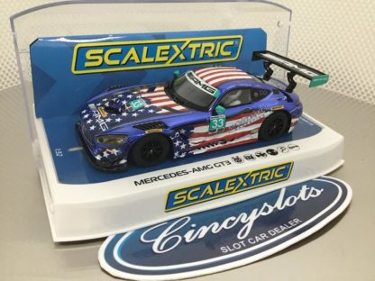 Scalextric C4023 Mercedes AMG GT3 Riley Motorsports 1/32 Slot Car.