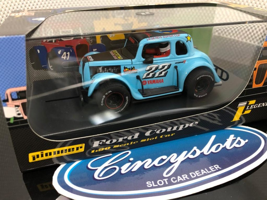 Pioneer P063 Ford Coupe Legends Blue Slot Car.