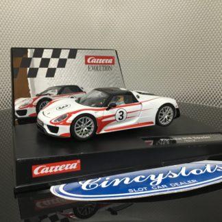 Carrera D132 Evolution 30711/27477 Porsche Spyder 918, Lightly Used.