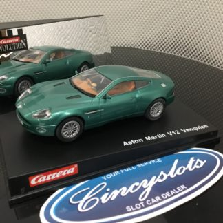 Carrera Evolution 25700 Aston Martin Vanquish Green, Lightly Used.