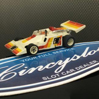 Aurora AFX G-Plus #1 White Indy F1 HO SLOT CAR. USED WORKING