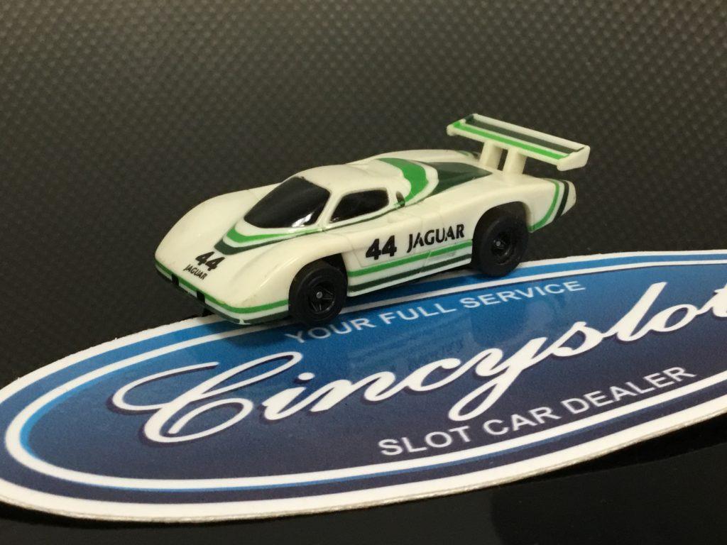 afx tomy slot car # 44 jaguar tomy turbo chassis ho