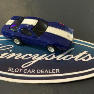 Tyco Mattel Hot Wheels Blue Corvette Grand Sport 440-X2 HO Slot Race Car