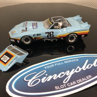 Monogram Revell 4864 Mancuso Greenwood Corvette #76 No Box Top Removed.