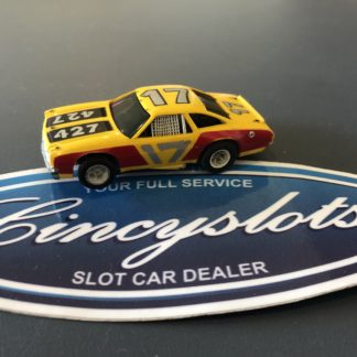 AFX HO Chevelle Stock Car 427 Yellow/Red, Used.