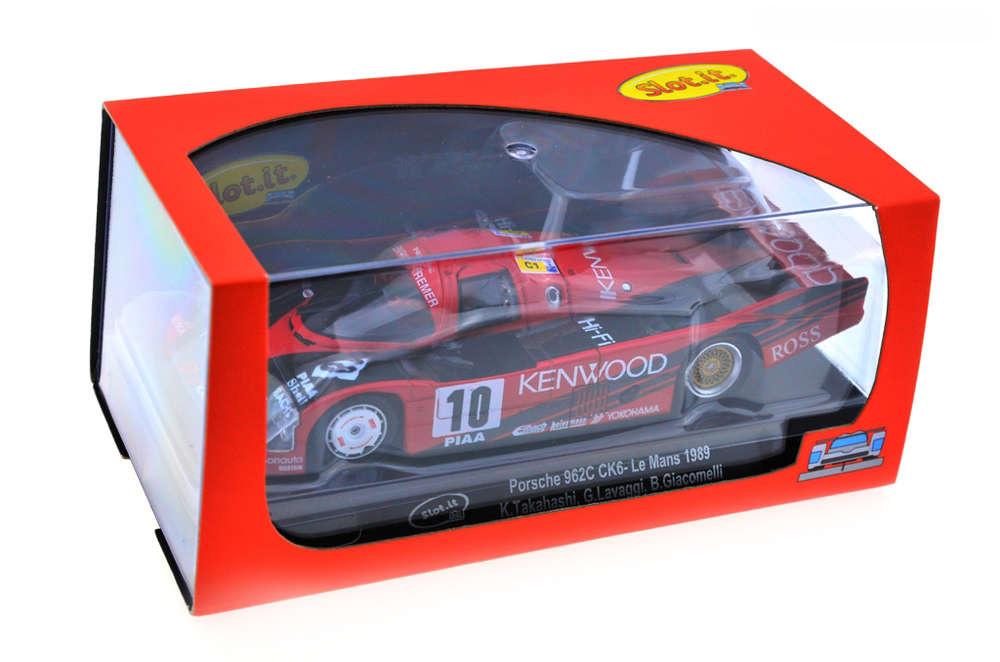 Slot.it CA34C Porsche 962C CK6 #10 le Mans 1989 Kenwood K.Takahashi-G.lavaggi