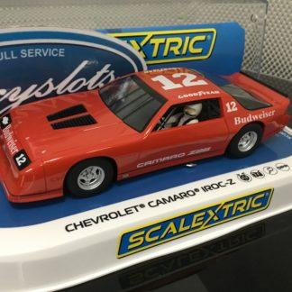 Scalextric C4073 Chevrolet Camaro Z28 Budweiser IROC-Z Red.