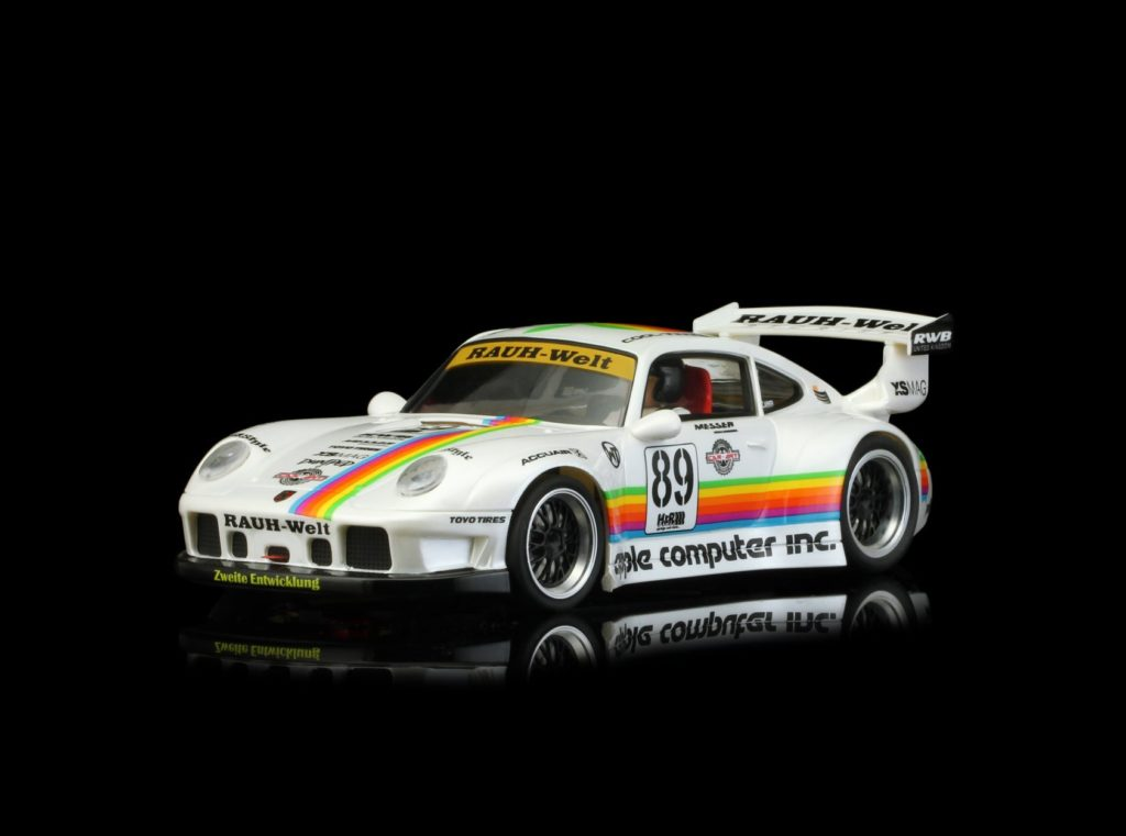 REVOSLOT RS0048 PORSCHE 911 GT2 #89 APPLE COMPUTER, 1/32 Slot Car.