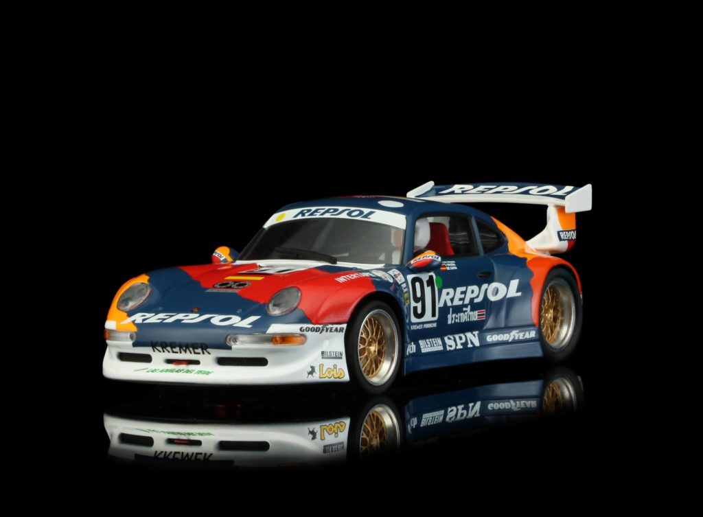 Revoslot RS0051 PORSCHE 911 GT2 Repsol Blue #91 1/32 Slot Car.