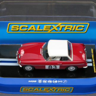Scalextric C3143 MGB 1964 Monte Carlo Rally 1/32 Slot Car.