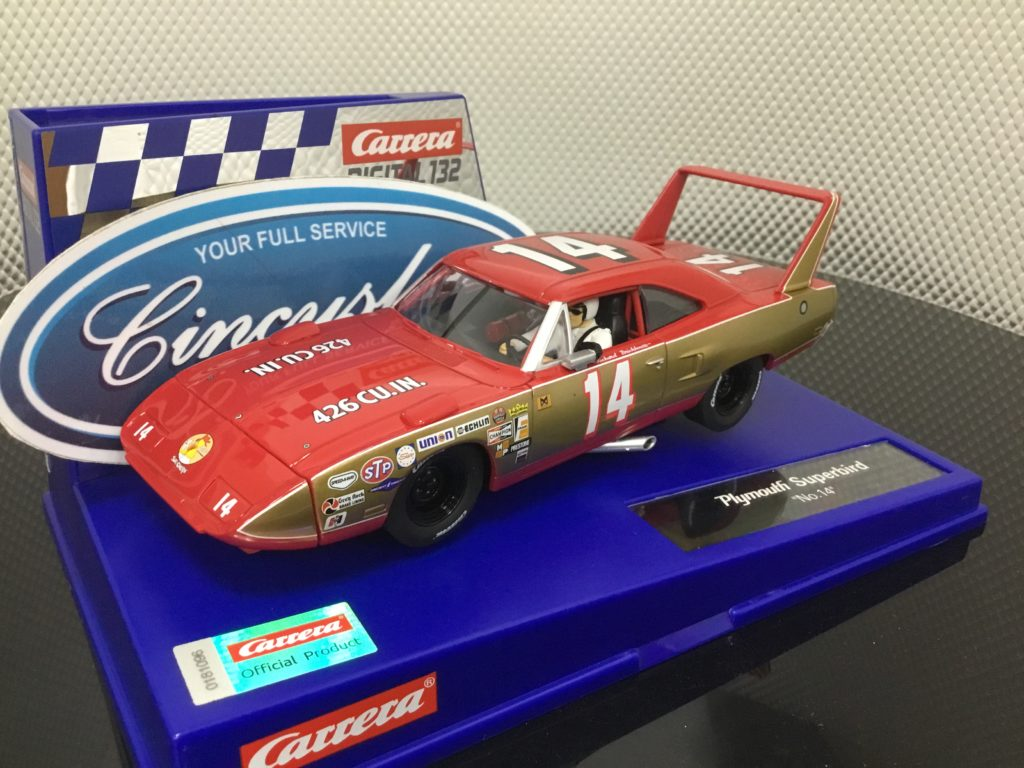 Carrera D132 30944 Plymouth Superbird #14 1/32 Slot Car.